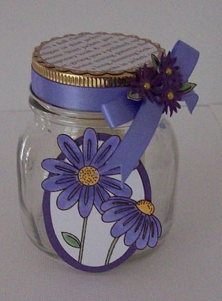 Book Page Daisy Votive Jar