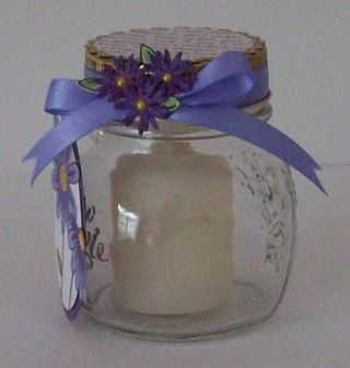 Book Page Daisy Votive Jar2
