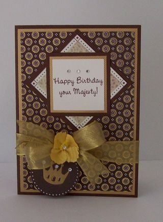 Happy Birthday Your Majesty Card