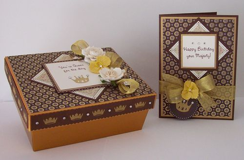 Happy Birthday Your Majesty Card and Gift Box