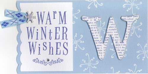 Warm Winter Wishes - W Card